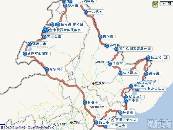 东北长白山地图