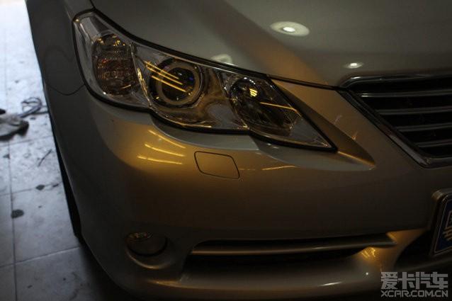 丰田锐志前车灯加装劲炫双光透镜 雪莱特灯泡 紫色天使眼,给力广州高清图片