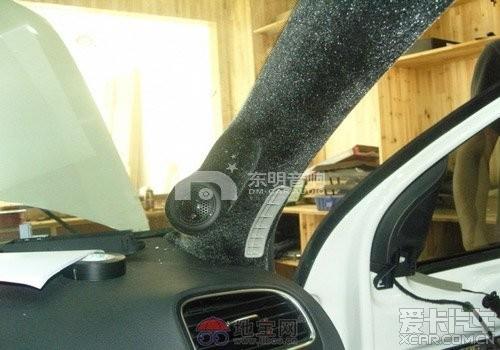 武汉 高尔夫6 汽车音响改装 德国零点高清图片