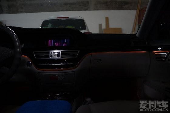 奔馳s300l升級s350車內氛圍燈
