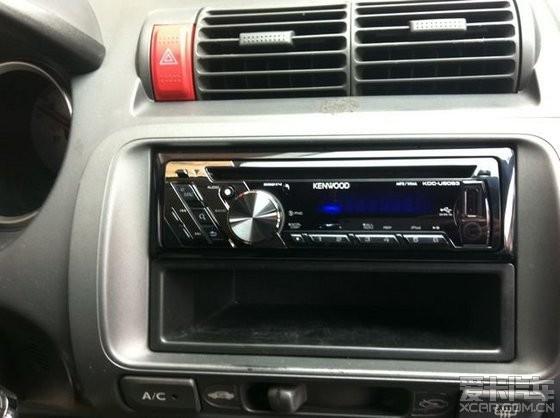 本田老飞度汽车音响升级改装kenwood建伍kdc-u5053 24bit音频解码cd机