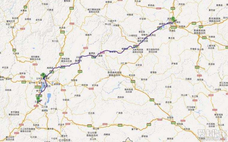 贵阳到西藏地图