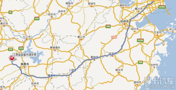 两条线路:   1,上海-杭州绕城--黄山-婺源-德兴-南昌昌东枢纽--机场方