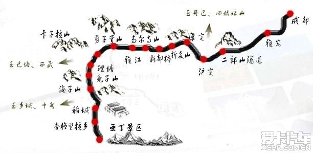 2013年路线前后西安自驾稻城亚丁的国庆计划锤子游戏通关v路线图片