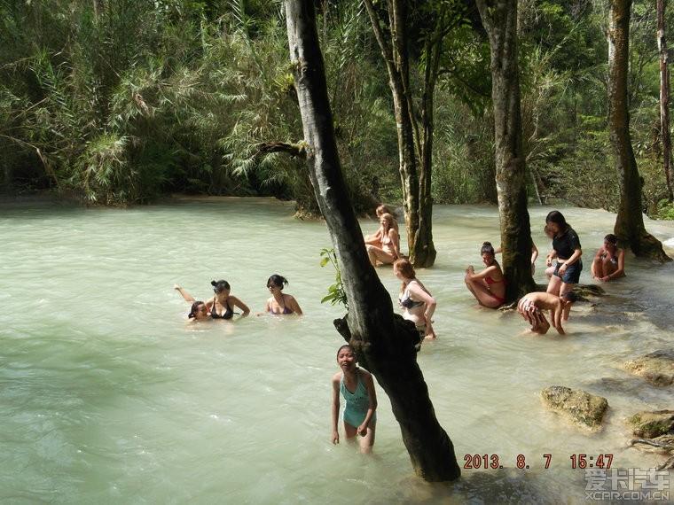 海南到老挝,13年8月单车自驾(给大象洗澡、跟