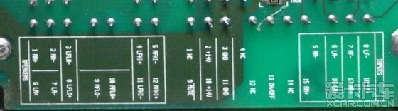 输入输出按照功放的接线应该是这样:前门分高低音