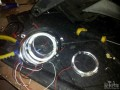 南昌大灯改装现代索8改Q5进口双光透镜天使眼