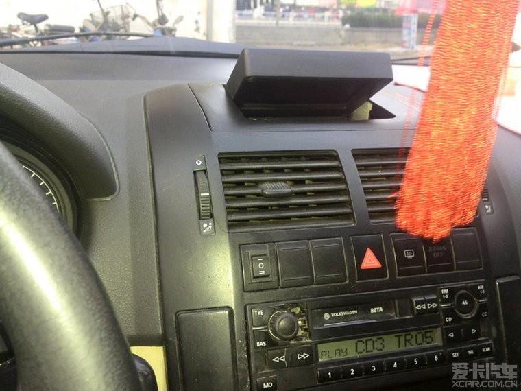 杂物盒安装显示器做倒车影像_polo论坛_xcar 爱卡汽车
