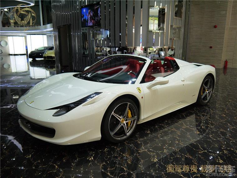 法拉利458白色 敞篷,御翔名车鉴赏 法拉利论坛