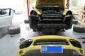 11款沙黄色卡宴改装turbo大嘴21寸轮毂喷绿色卡钳