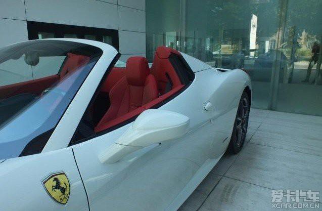 欧洲期货 全新14年法拉利458白色红内 硬顶敞