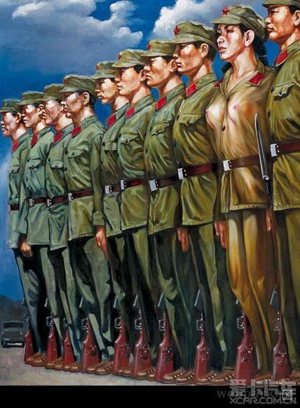 退伍军人征服女上�_> 退伍女兵画下的文革时期丰乳肥臀的女军人!