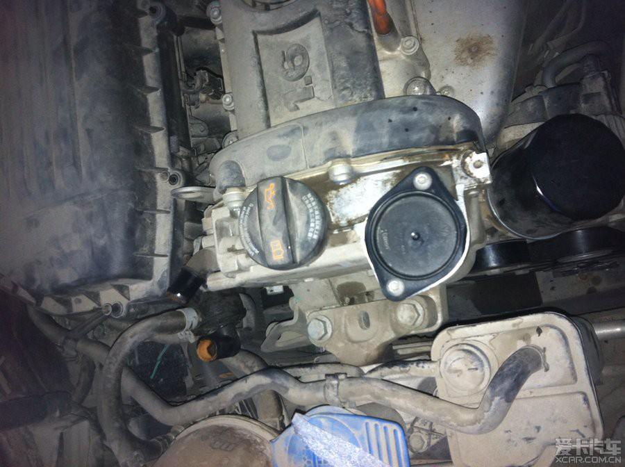 1.6mt机滤后面和废气阀接口有渗油,该如何处理求大神赐教图片
