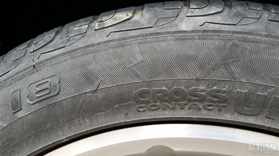 这个轮胎裂纹严重吗?_途观论坛_XCAR 爱卡汽