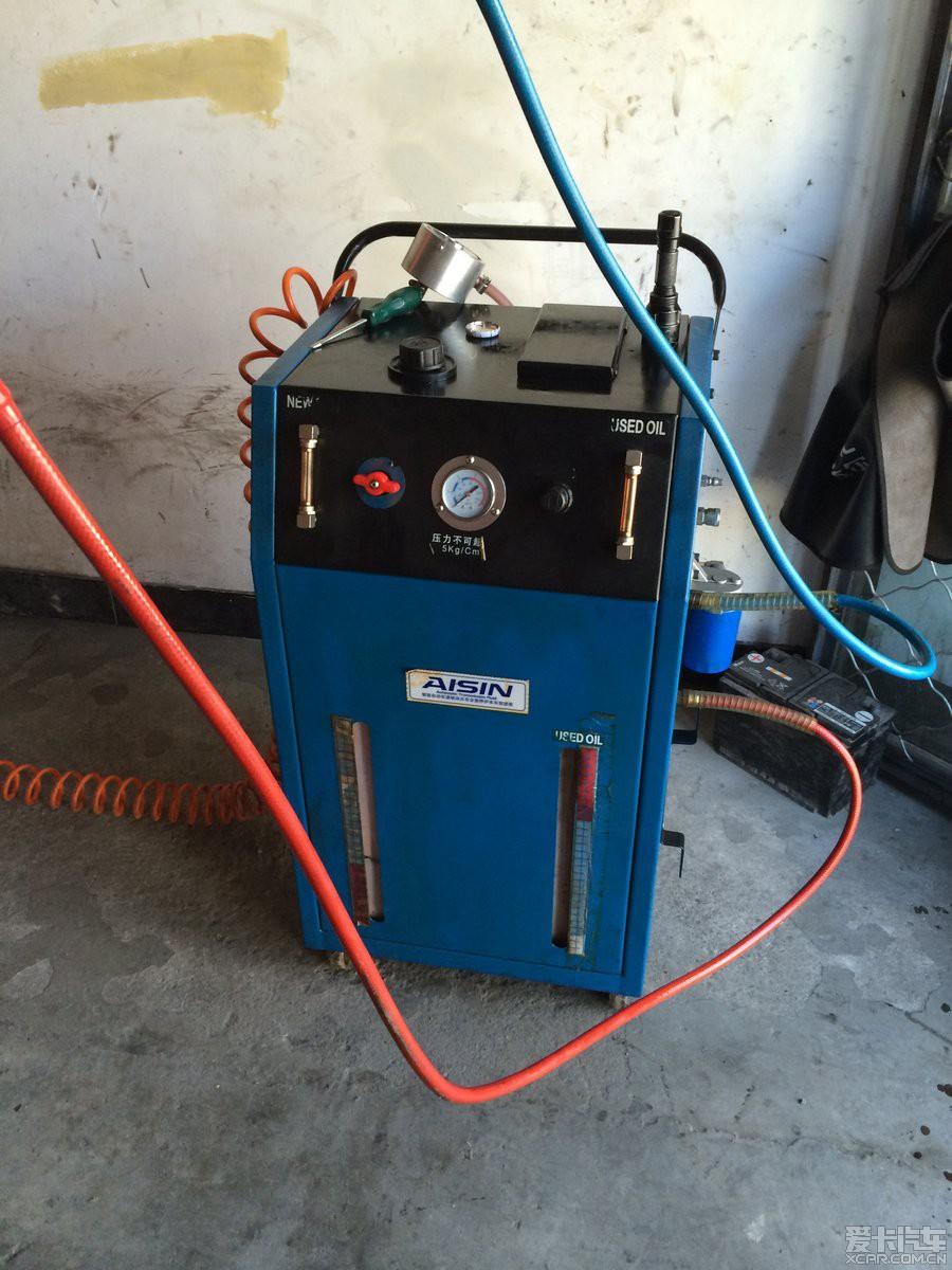 > 世嘉al4自动变速箱循环机彻底更换变速箱油作业