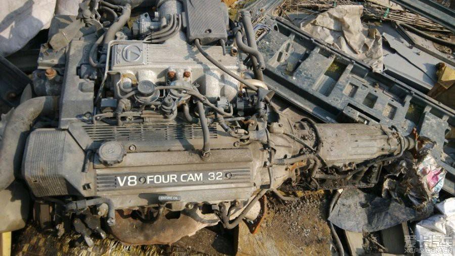 出 凌志ls400 1uz fe v8 4.0 发动机 变速箱 拆 跳 高清图片