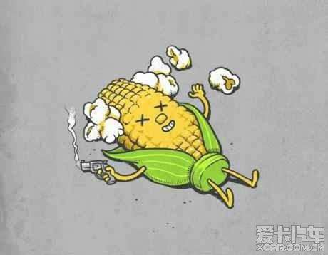 2014可爱卡通玉米图