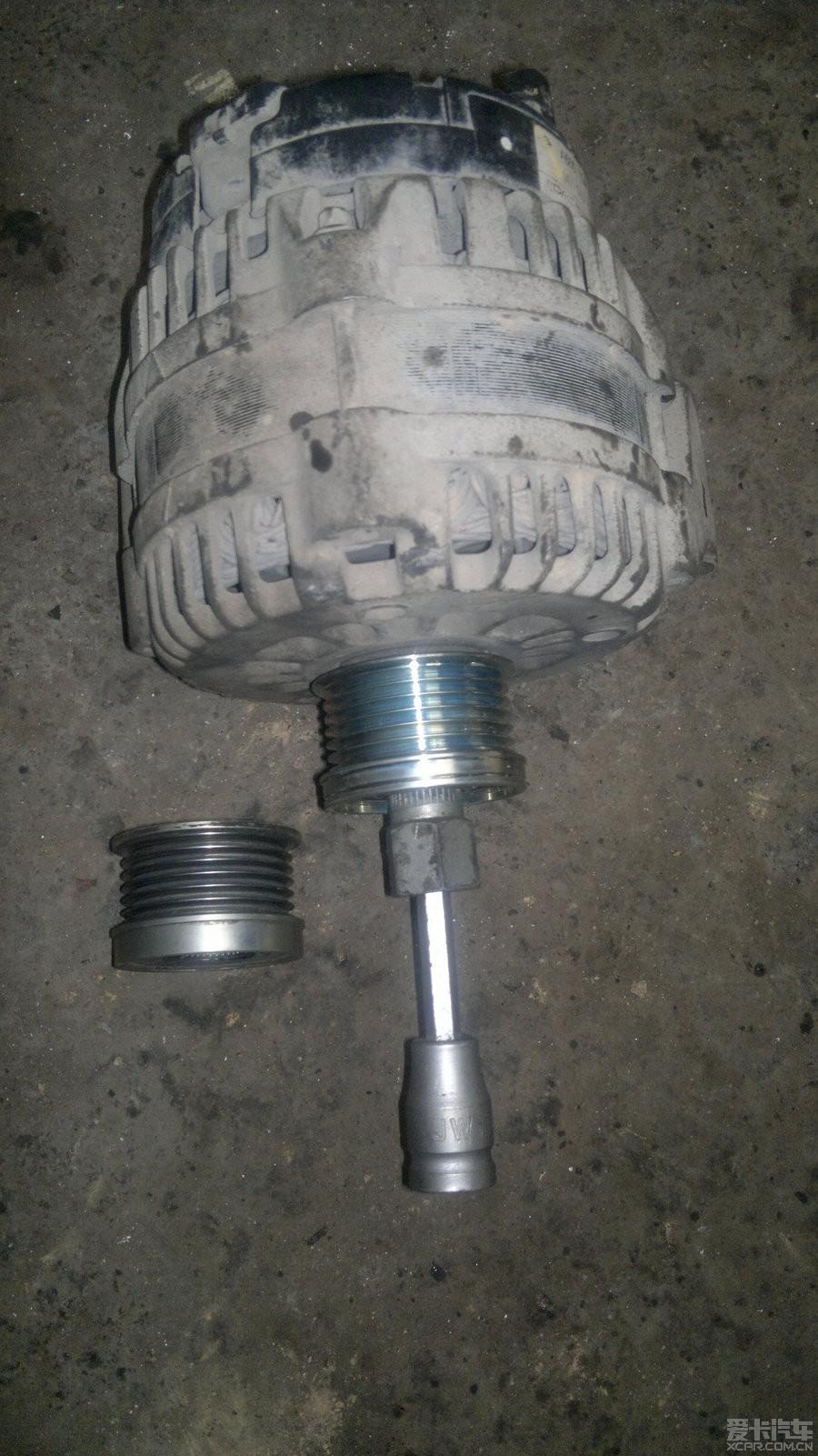 双龙雷斯特 更换发电机单项 皮带 轮 双龙 论坛 高清图片