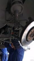姥姥款307更换发动机右上、中下支架作业