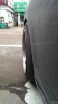出老款骐达用改装圈,国产仿TE37抛边圈配合正品飞劲轮胎