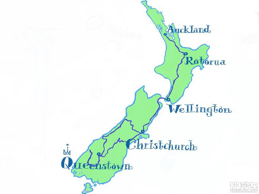 手绘太阳岛旅游地图