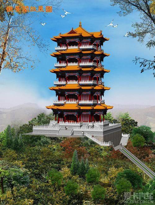 工程建设采用钢筋混凝土现代建筑材料,仿明清时代大木结构手法制作,主