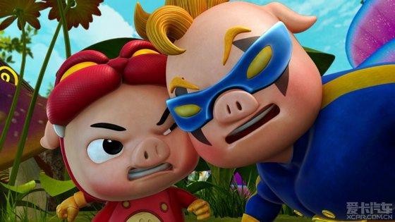 一组可爱猪猪侠