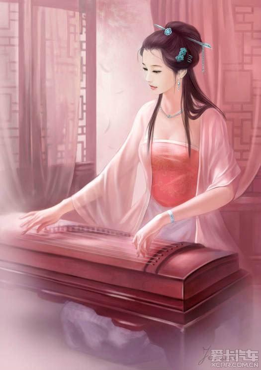 > 【古代美女手绘图】