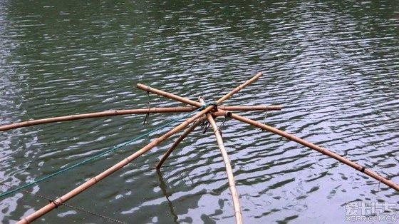 罾网及支架安装结构图