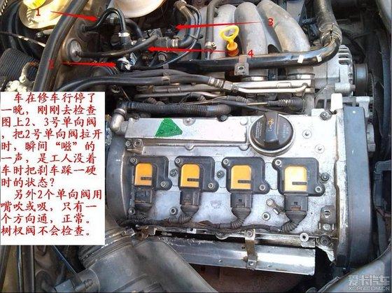 """今天特意跑去修车行检查单向阀,当把图2的单向阀拆下时,""""嗞""""的一声图片"""