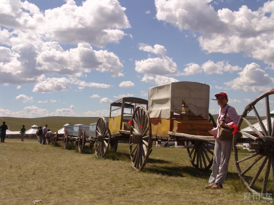 勒勒车,蒙古族古老的交通运输工具.