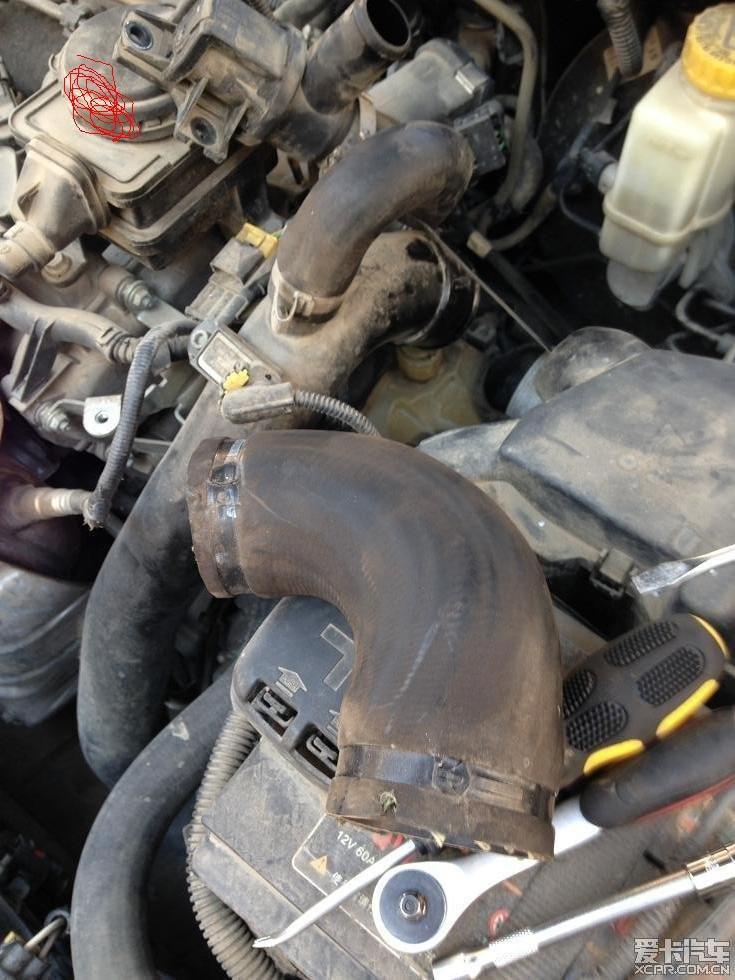 > 73000公里,涡轮废气阀内部开裂图片