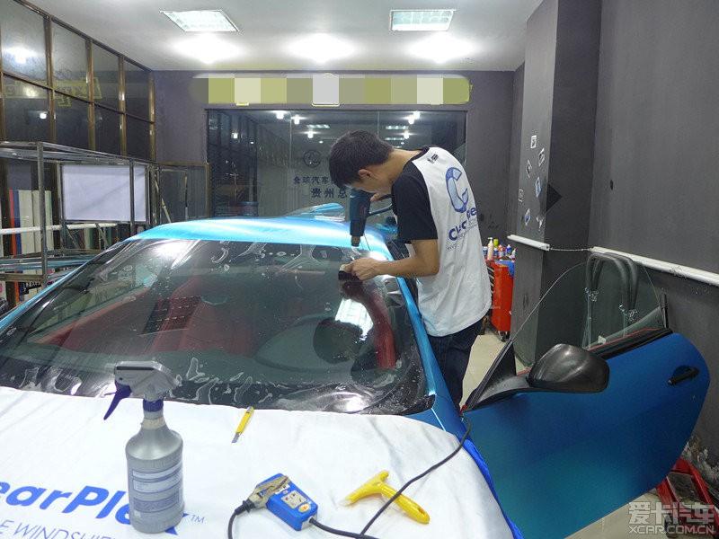 玛莎拉蒂全车拉丝电镀蓝加玻璃盾甲 贵高清图片