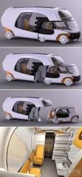 可分离的露营车:Colim概念车