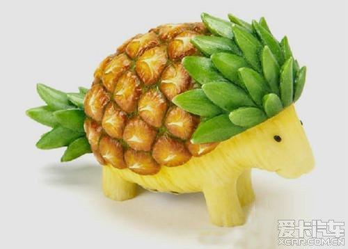 最近发现了一些蔬菜水果做的小动物