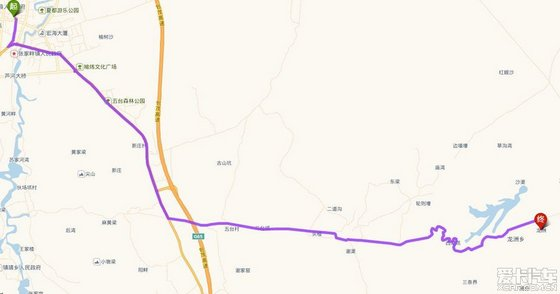 靖边丹霞自然风景区地图