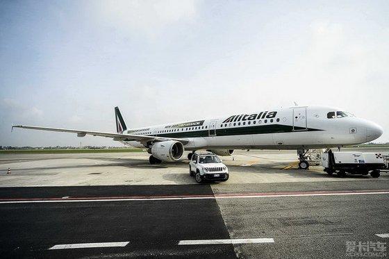 广告出现意大利航空公司的air
