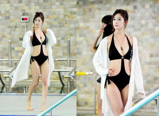 亚洲第一,世界第二美女李成敏,她小腹部的纹身好有爱