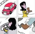 开个车不容易啊,远离了高跟鞋,还要远离雪地靴