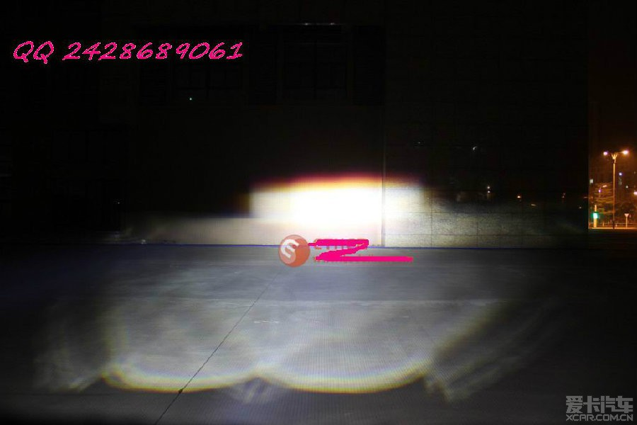 路虎卫士 汽车 前大灯 改装led灯效果杠杠的 汽高清图片