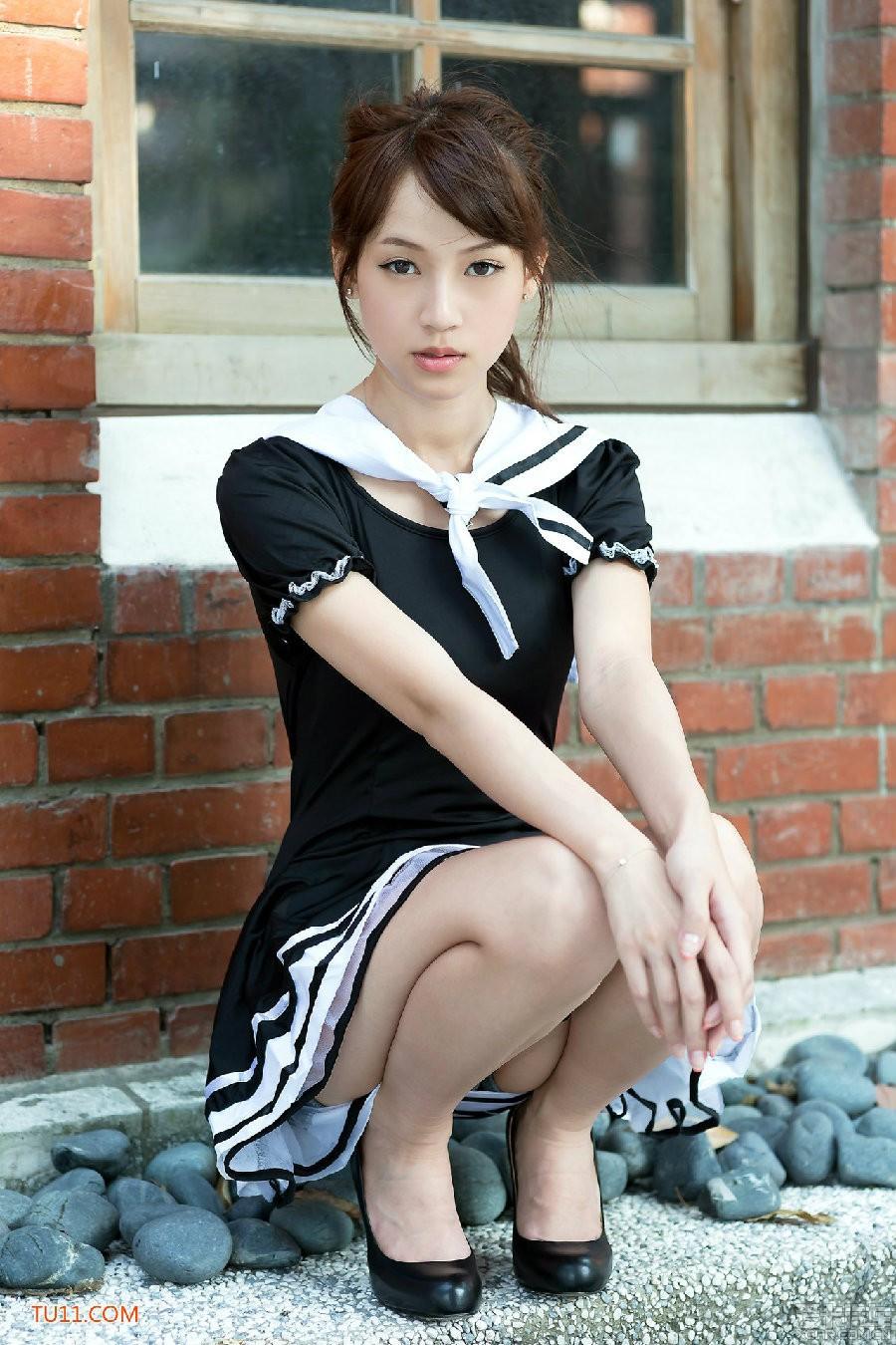 > 台湾美女小清新清纯写真