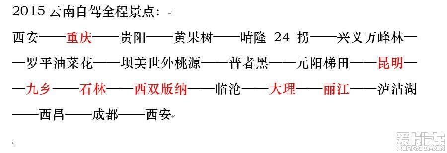 2015云南-陕西自驾游,v攻略同行攻略!_西安车友魔方汽车激光皇家图片
