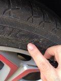 万能的卡友,看下这轮胎影响安全吗