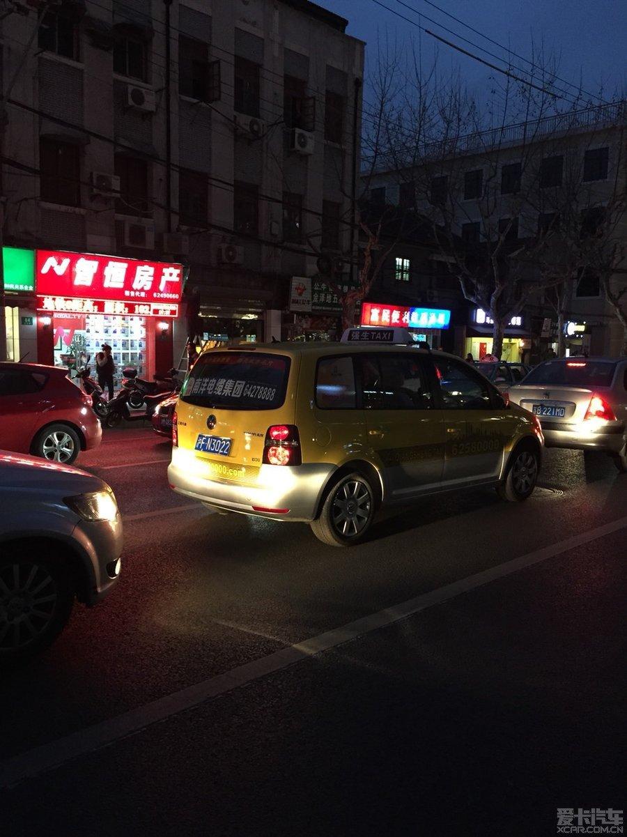 上海 途安出租车 强生 公司黄色涂装 途安 论坛 高清图片