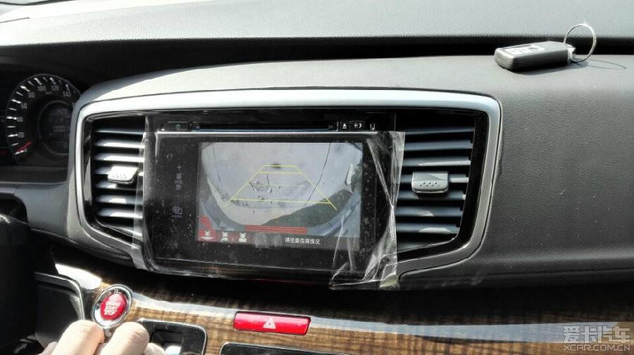 15款奥德赛原车屏升级,新增导航和记录仪功长城炫丽100块钱油跑多少公里图片