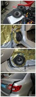 卡罗拉音响改装Goldbor四门喇叭扬声器