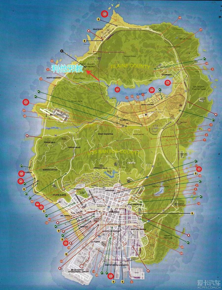 原创看到版主都在玩gta5就分享一下几张地图吧