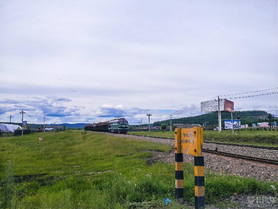 林区拉木材的火车