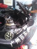 12款途观EA888发动机清晰油电路跟换正时侧盖漏油垫!