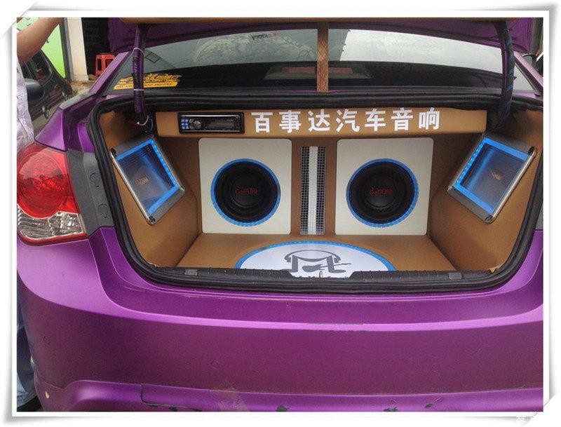 【江西南昌】雪佛兰科鲁兹音响改装尾箱倒模灯光专业卖碟样车